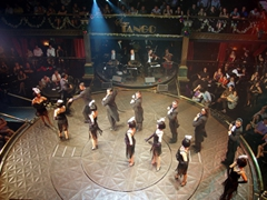 The tango performers get ready to take their closing bow; Senor Tango