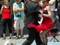 Tango dancers in San Telmo's streets