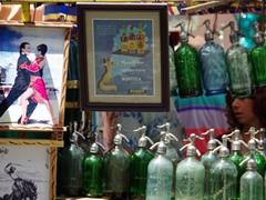 "Lots of ""treasures"" for sale; San Telmo flea market"
