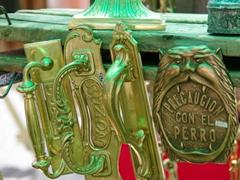 Door ornaments for sale; San Telmo flea market