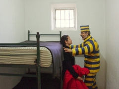Becky gets up close and personal with one of Ushuaia's most notorious prisoners; Maritime & Prison Museum