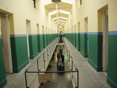 Upstairs prison cells; Ushuaia Maritime and Prison museum
