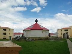 Courtyard view of the Maritime/Prison museum; Ushuaia