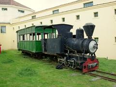 An antiquated steam engine; Ushuaia Maritime & Prison Museum