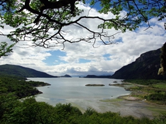 Fantastic view from our short hike through Tierra del Fuego park