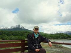 Becky chilling in Tierra del Fuego park; Ushuaia