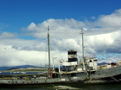 A decrepit boat on the outskirts of Ushuaia