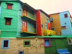 The colorful facades of Caminito are a major tourist draw in Buenos Aires