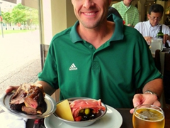 """Robby is quite thrilled to have found """"Siga la Vaca"""" restaurant; Buenos Aires"""