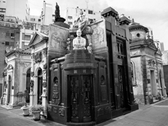 La Recoleta Cemetery in Buenos Aires is like a city within the city...its a fascinating place to visit