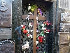 The most famous tomb in La Recoleta Cemetery (Evita's makeshift shrine)