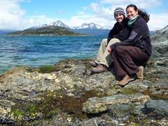 Chilling in windy Tierra del Fuego national park