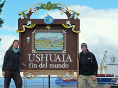 """Posing at the """"end of the world""""; Ushuaia"""