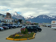Even Ushuaia's parking lots are scenic!