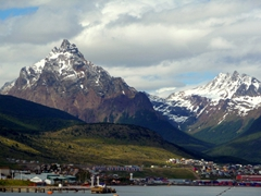 Ushuaia is dominated by the majestic Andes Mountain range...we had to wait several days to take this unobstructed shot of the peaks