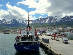 Parting view of Ushuaia as the Polar Star pulled off towards the Falkland Islands