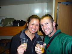 A toast at the start of our Antarctic expedition at the gateway city of Ushuaia
