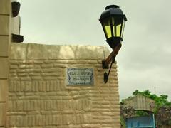 Street lamp to Plaza Mayor, Colonia's main square