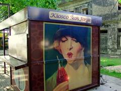 A classic coca cola stand; Colonia