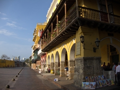 Another view of the most central plaza in Cartagena