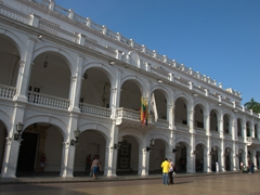 A government building adjacent to Plaza de Bolivar