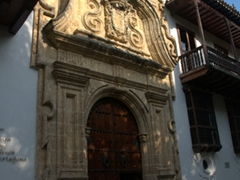 "Entrance to the infamous ""Palacio de la Inquisicion"", where hundreds of non-Catholics were tortured, judged and convicted by the Spanish Inquisition"