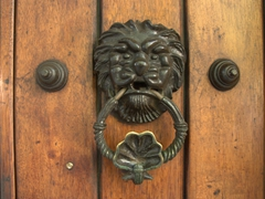 Old Cartagena is full of interesting door knockers. They were a sign of status for the city's rich inhabitants