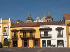 The largest and oldest square in Cartagena was once used as a parade ground; Plaza de la Aduana