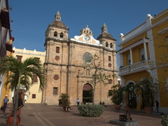 View of the 18th Century Iglesia de San Pedro Claver