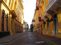 Fish eye view of Cartagena
