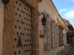 Beautiful entrances of old Cartagena