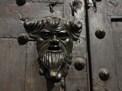 Another one of Cartagena's unique door knockers (use the beard to enter this residence)