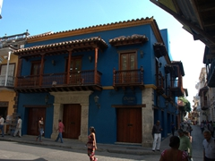 The buildings within the historic old town of Cartagena are kept in immaculate condition