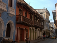 The scenic side streets of the walled city of Cartagena