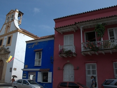 White, blue and pink. The bold colors of Cartagena are mesmerizing