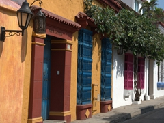 Cartagena is full of colorful side streets...we spent hours exploring most of them