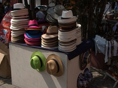 Hats for sale in Plaza de San Diego