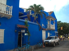 "The appropriately named ""Blue House""; Cartagena"