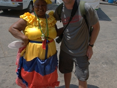 Robby and a friendly Palenquera pose for a photo