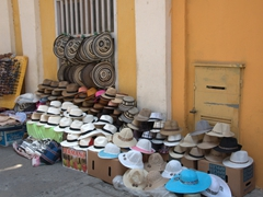 A wide variety of hats for sale in sunny Cartagena