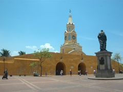 Our parting view of Cartagena as we head towards the Clock Tower in search of a taxi back to port