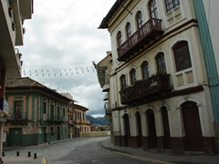 A rare sight of Cuenca's empty streets (the day after New Years festivities)