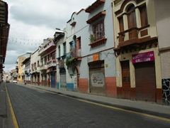 Cuenca is normally bustling with traffic and pedestrians