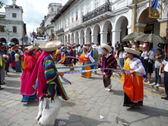 We loved the colorful costumes of the Pase del Niño Viajero