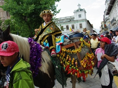 The parade of kids on horseback at the Pase del Niño Viajero is endless, going on for hours and hours