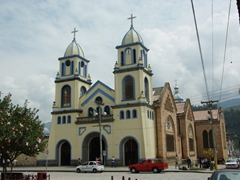 Gualaceo's pretty church (beside the outdoor market)