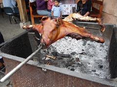 This hornado roasted pig is quickly devoured