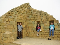 Robby, Shirley and Chelsea at the Incan ruins of Ingapirca