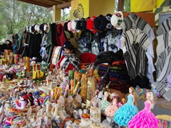 Lots of handicrafts for sale; Ingapirca
