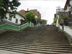 Stairs leading up to the old town; Cuenca